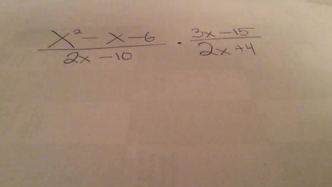 Thumbnail for entry Simplifying Rational functions - multiplication
