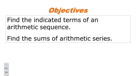 Thumbnail for entry 9.3 arithmetic sequences and series