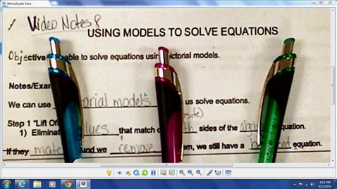 Thumbnail for entry Video Notes 8 - Modeling Equations