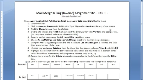 Thumbnail for entry Mail Merge #2 - Part B