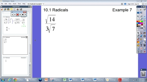 Thumbnail for entry 10.1 Radicals Example #7