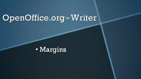 Thumbnail for entry Setting Margins, Indents and Line Spacing in OpenOffice.org™ Writer