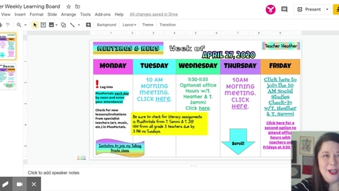 Thumbnail for entry Learn what's included in T. Heather's learning board