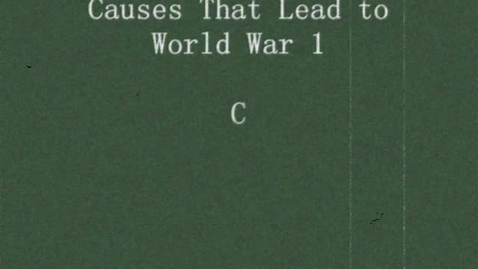 Thumbnail for entry World War 1