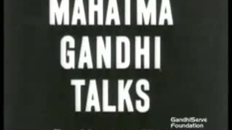 Thumbnail for entry Gandhi Interview