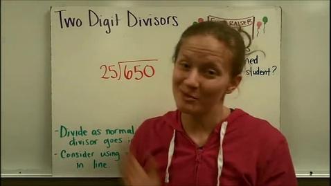 Thumbnail for entry Two Digit Divisors