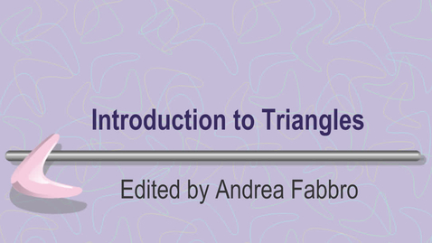 Thumbnail for entry Triangles - Missing Angles