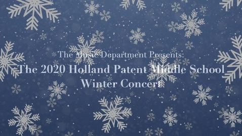 Thumbnail for entry 7th & 8th Grade Winter 2020-21 Concert