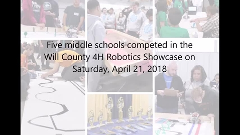 Thumbnail for entry Middle schools compete at regional robotics event, 04.21.2018