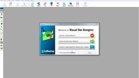 Thumbnail for entry Getting Started :: CoffeeCup Visual Site Designer