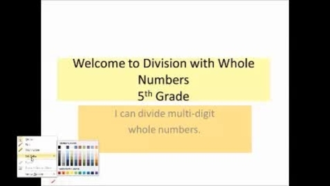 Thumbnail for entry Dividing Whole Numbers