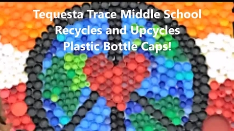 Thumbnail for entry Upcycled Bottle Cap Murals from Tequesta Trace Middle School