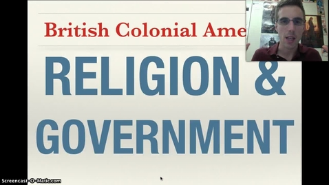Thumbnail for entry Religion and Government in the Colonies