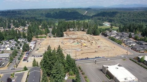 Thumbnail for entry Chinook Elementary Drone Footage Site Progress August 2021