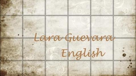 Thumbnail for entry Lara's English Project