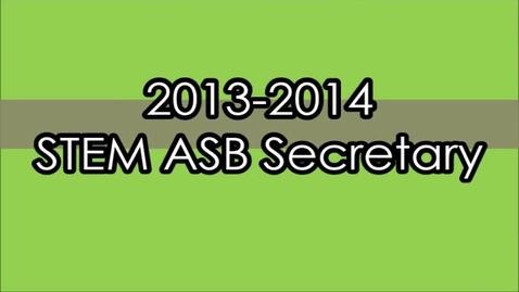 Thumbnail for entry ASB Secretary