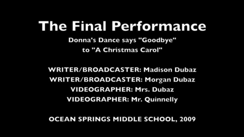 Thumbnail for entry The Final Performance