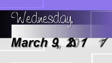 Thumbnail for entry Wednesday, March 9, 2011