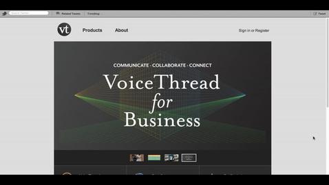 Thumbnail for entry Voicethread Walkthrough