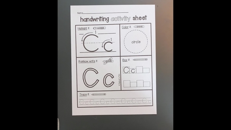 "Thumbnail for entry Handwriting Activity Sheet ""C"""