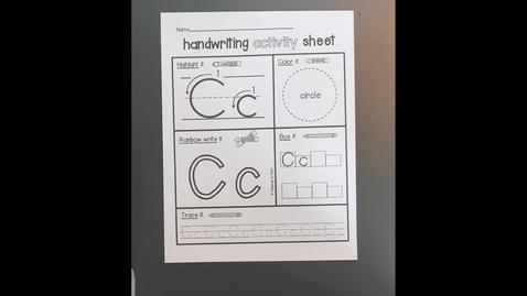 "Thumbnail for entry Handwriting Activity Sheet ""C"""