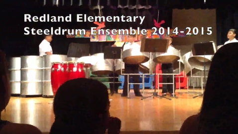 Thumbnail for entry Redland Elementary Steeldrum Ensemble 2014-2015