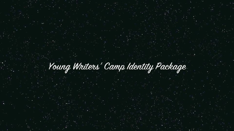 Thumbnail for entry Bryan Mire's Young Writers' Camp Identity Package Practice Presentation