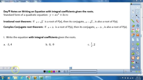 Thumbnail for entry Math 3 Writing polynomials given solutions (sum and product rule)