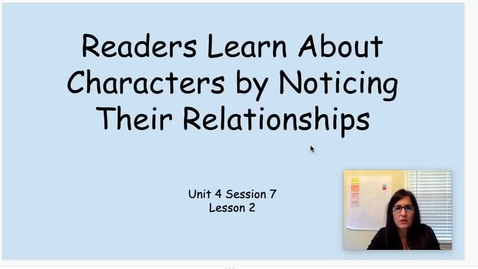 Thumbnail for entry RW Unit 4 Session 7 (2) Noticing Relationships