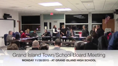 Thumbnail for entry Joint Town Board/School Board Meeting 11-30-2015