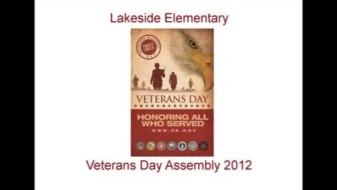Thumbnail for entry Lakeside Veterans Day 2012