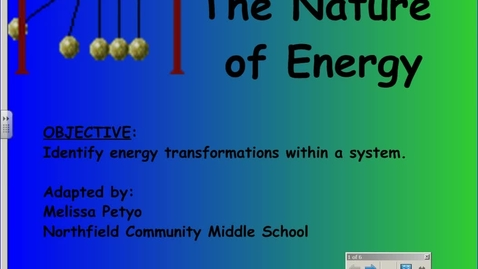 Thumbnail for entry Kinetic & Potential Energy