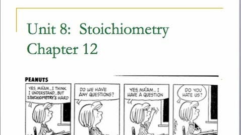 Thumbnail for entry Stoichiometry Part A