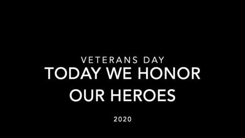 Thumbnail for entry Veterans Day - submitted by Lesley Hubert and class
