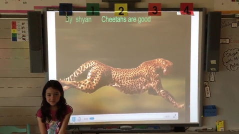 Thumbnail for entry Shyann Hipp Cheetah research project