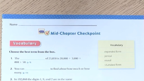 Thumbnail for entry Mid-Chapter Checkpoint p.21-22