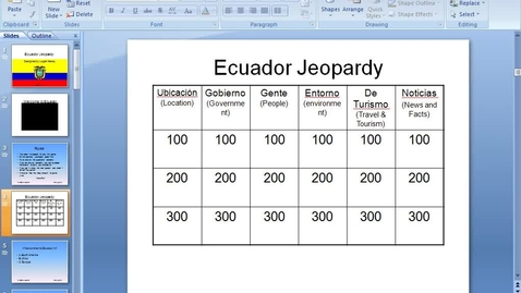 Thumbnail for entry Jeopardy Power Point - Part 5