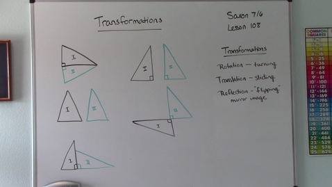 Thumbnail for entry Saxon 7/6 - Lesson 108 - Transformations