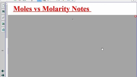 Thumbnail for entry Molarity Notes