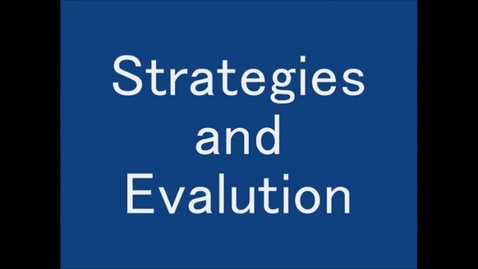 Thumbnail for entry Web Strategies and Evaluation