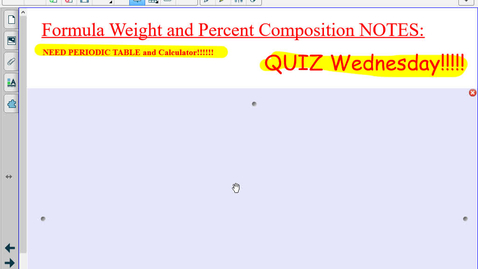 Thumbnail for entry Honors  Formula Weight and Percent Composition Notes