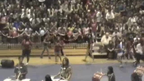 Thumbnail for entry Drum Line - Pep Rally