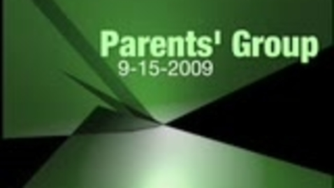 Thumbnail for entry Parents Group Meeting September 09