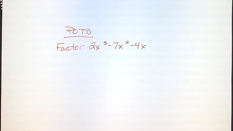 Thumbnail for entry KRey HA2 Hovercam Factoring Notes Day 2 10.4.13