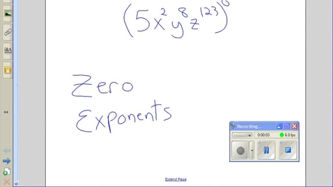 Thumbnail for entry Zero exponents example 3