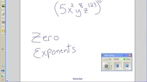 Thumbnail for entry Zero exponents example 3