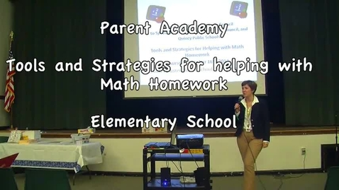 Thumbnail for entry Parent Academy Math Homework Elementary- Introduction