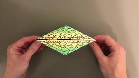 Thumbnail for entry Fifth Grade Origami Dragon Eye