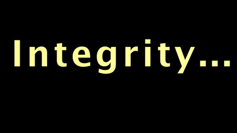 Thumbnail for entry PSA - Integrity - Help Out
