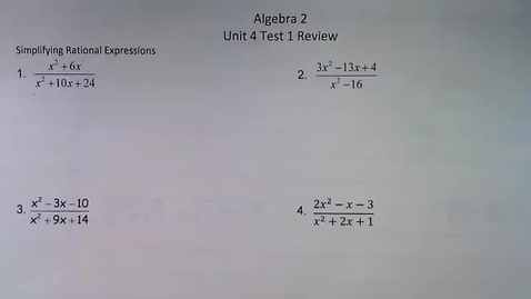 Thumbnail for entry Unit 4 Test 1 Review